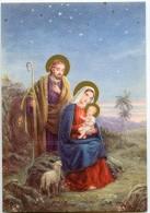 JOYEUX NOËL - A La Belle étoile Vierge Marie Sur Un Rocher Tient L'enfant Jésus, Joseph Un Mouton - Non écrite - 2 Scans - Autres