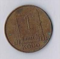 1 Kobo Coin, Oil Derrick, Nigeria, 1973 - Monnaies