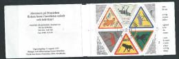 Suède 1997 Carnet C 1992  Oblitéré Timbres Message Avec élans - Carnets