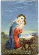 JOYEUX NOËL - A La Belle étoile, Vierge Marie Tient L'enfant Jésus Au-dessus De La Mangeoire - Non écrite - 2 Scans - Noël