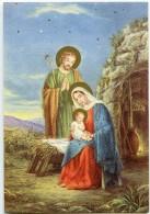 JOYEUX NOËL - Devant Une Caverne Marie Tient L'Enfant Jésus, Joseph Debout Derrière La Mangeoire - Non écrite - 2 Scans - Noël