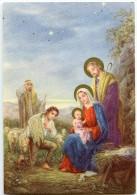 JOYEUX NOËL - Bergers Et Moutons Visitent Jésus Nouveau-né, Vierge Marie Et Joseph - Non écrite - 2 Scans - Autres