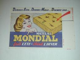 BUVARD Publicité  MATELAS MONDIAL - Blotters