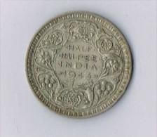 George VI British India Silver Half Rupee - 1943 - UK - England - Inde
