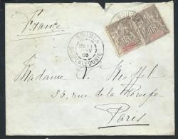 FRANCE - NOUVELLE CALEDONIE - Enveloppe De Nouméa En 1905 Pour Paris - Aff. Type Groupe - A Voir - Lot P13731 - Neukaledonien