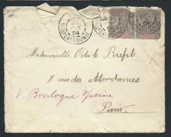 FRANCE - NOUVELLE CALEDONIE - Enveloppe De Nouméa En 1904 Pour Paris - Aff. Type Groupe - A Voir - Lot P13732 - Briefe U. Dokumente