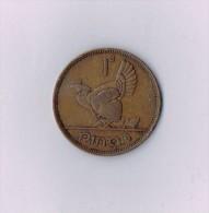 1942  IRELAND / EIRE HEN & CHICKS 1d PENNY  COIN - Irlande