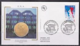 = Anniversaire Ecole Nationale Administration Enveloppe 1er Jour Paris 5.10.95 N°2971 Couleurs Nationales - 1990-1999