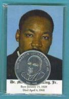 Dr. Martin Luther King Jr. Card And Coin 1968 - Medal - Etats-Unis