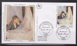 = Oeuvre De Berthe Morisot Enveloppe 1er Jour Paris 7.10.95 N°2972 Le Berceau - 1990-1999