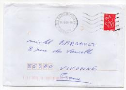 2006--tp TVP Marianne De Lamouche Rouge Seul Sur Lettre-cachet Muet  971 PETIT-BOURG CC--Guadeloupe - Marcophilie (Lettres)