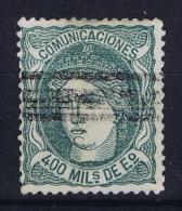 Spain: Mi 104 Ed 110  Used  1870 - Usados