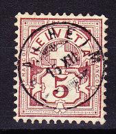 Heimat AG  Thalheim 15.12 Zwergstempel Ohne Jahreszahl Auf Rp. WZ - 1882-1906 Wappen, Stehende Helvetia & UPU