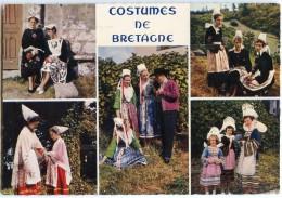 Costumes Bretagne - Groupe En Costume De LOCRONAN, AURAY, PLOUGASTEL, FOUESNANT Et KERLOUAN - Non écrite - 2 Scans - Kerlouan