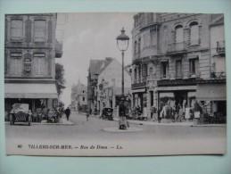 CPA 14 Villers-sur-Mer - La Rue De Dives - Vue De Commerces Et Les Galeries Vivienne   à Voir ! - Villers Sur Mer