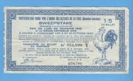 Billet Loterie - Sweepstake - Prix De L'Arc De Triomphe 1935 - 1/5 - Billets De Loterie