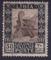 COLONIE ITALIANE LIBIA 1921 Pittorica 30c / Gomma Integra Sassone 27      Prezzo Di Catalogo Euro 137,50 - Libia
