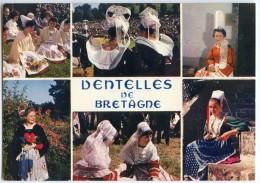 Dentelles De Bretagne - Léon, Pont-Aven, Coiffe Bigouden, Châteauneuf-du-Faou, Plouguerneau, Plougastel - écrite 2 Scans - France