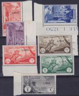 COLONIE ITALIANE LIBIA 1940/41 PA Serie Completa + L.1 / Nuovi Con TL Sassone A46/52 - Libya