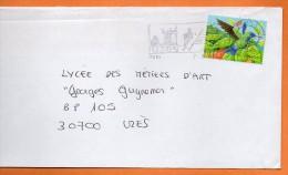 MAURY N° 3530 COLIBRI A TETE BLEUE  Lettre Entière 110x220  N°  P 516 - Marcophilie (Lettres)