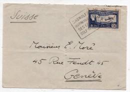 P.A. N° 6 S/lettre France Suisse - Cachet Daguin Bagnolles De L'Orne - 1927-1959 Brieven & Documenten