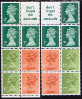 GREAT BRITAIN 1980 SG #X849m,ma Two Booklet Panes MNH - 1952-.... (Elizabeth II)