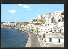 AK Naxos, Strasse Und Häuser Am Ufer - Grèce