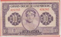 LUXEMBOURG - 10 Francs De 1944 - Pick 44 - Lussemburgo