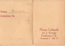 Pochette Photo D'identité LUTHARDT Inh. S. Werzinger - Forchheim/Orf. Paradeplatz - - Materiale & Accessori