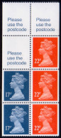 GREAT BRITAIN 1990 SG #X911m Booklet Pane MNH - Machins