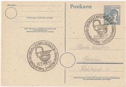 MOT-L1 - ALLEMAGNE Entier Postal Avec Obl. Temporaire Course Du Jubilée De Hockenheim 1948 - Moto