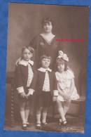 CPA Photo - ASNIERES - Portrait De Famille - Mére & Ses Enfants - E. Francart - Garçon Fille Boy Girl Kid Mode Fashion - Non Classés
