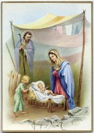 JOYEUX NOËL - A. Collino - Un Enfant Visite Jésus Sous Une Tente, Joseph, Vierge Marie- écrite - 2 Scans - Noël