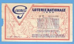 Billet Loterie Nationale - Publicitaire Café Et Chocolats Des Gourmets - 5ème Tranche 1941 - Billets De Loterie