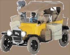 X TINTIN CARS CONGOFORD T 1910 - Tintin