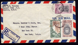 A3572) Jamaica Registered Cover From Stewart Town 05/22/1951 To New York / US - Jamaica (...-1961)