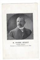13485 - Pierre Béguet Conseiller Municipal Fête Cantonale De Gymnastique 1908 2 Scans - GE Genève