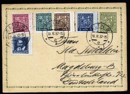 A3573) Czechoslovakia CSR Karte Von Zlin 10.2.37 Nach Magdeburg - Briefe U. Dokumente