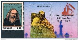 Korea 1984, SC #2436-37, Perf 1V+S/S, Mendeleev, Chemistry - Química