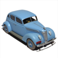 X TINTIN CARS CRYSTAL BALLSLe Taxi Ford - (7 Crystal Balls) - Tintin