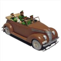 TINTIN CARS KING OTTOKAR    La Decapotable Marron - (King Ottokar) - Tintin