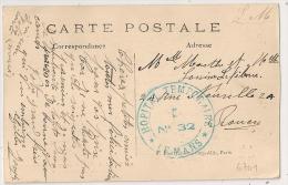 LE MANS, Sarthe, Hopital Temporaire N° 32. - Marcophilie (Lettres)