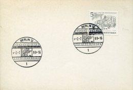2196 Germany, Special Postmark International Filmfestspiele Berlin, 1969,  Film  Cinema Movie - Cinema