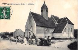 CARTE POSTALE ORIGINALE ANCIENNE : GILLES ; L'EGLISE ; ANIMEE ; EURE ET LOIR (28) - Frankreich