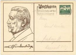TEL-L7 - ALLEMAGNE Flamme De Propagande Pour Le Téléphérique Du Schauinsland 1934 Sur Entier Postal Hindenburg - Allemagne