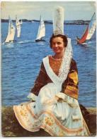 Folklore De Bretagne - Bigoudenne Sur La Côte (Finistère) - écrite Et Timbrée - 2 Scans - Costumes