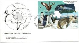 Pli En 1° Jour (( Programe ANTARTICO - PROANTAR BRESIL 1990 )) - Forschungsprogramme