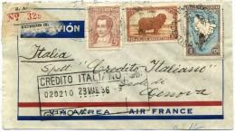 23.MAG.36 ARGENTINA AIRFRANCE BUENOS AIRES - GENOVA (ITALIA) - Argentina