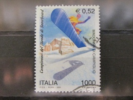 ITALIA USATI 2001 - CAMPIONATI DEL MONDO SNOWBOARD - RIF. G 1797 LUSSO - 6. 1946-.. Repubblica