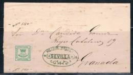 SEVILLA A GRANADA - 1868-70 Gobierno Provisional